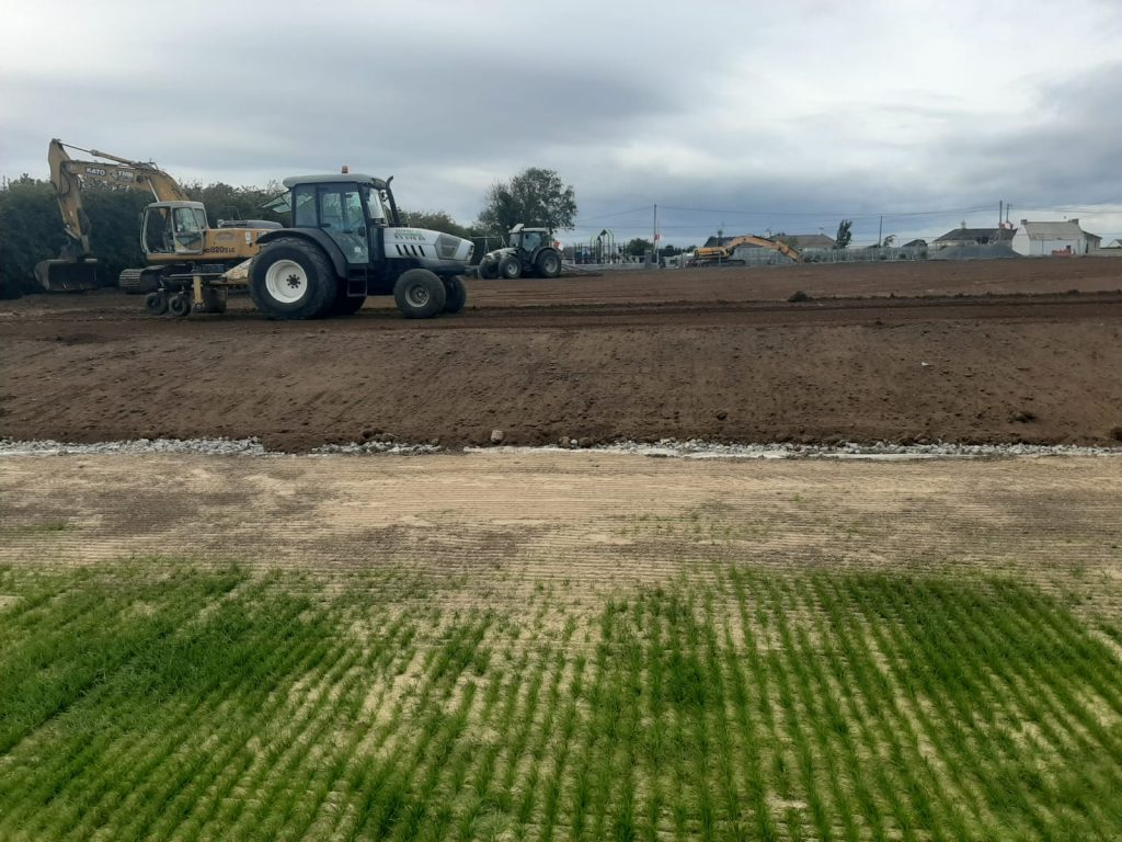 putting the finishing touches to the training pitch Gorthnahoe